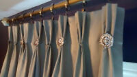 Custom Drapery, Window Coverings, Seamstress