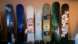 Snowboards and binding for sale