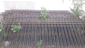 Very Stylish Solid Iron fencing 12.ft long sections