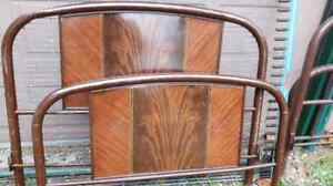 Vintage Metal headboard and footboard