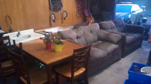 Fall Clean up! two love seats and one dining table 4 chairs