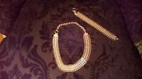 Sterling Silver chainmail neckpiece and bracelet