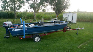 Boat/motor and trailer 16ft.