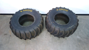 Four Snow Maxxis 22x10-9