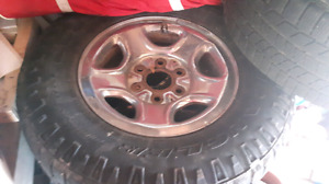 Gmc 6 bolt rims and tires