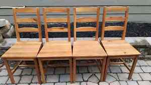 Dinning Chairs - solid wood - IKEA