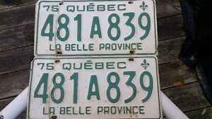 1975 Quebec License Plate