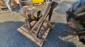 Tractor three point linkage pto driven generator