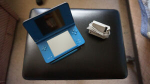 Blue Nintendo DSi XL with Charger plus Pre-Installed Games