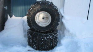 tires, weights and chains for snowblowers and lawn tractors