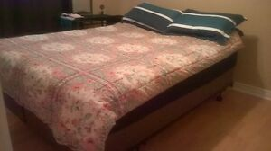 Queen Size Boxspring and Mattress with Pillowtop
