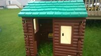 Large Outdoor Toy Log Cabin Playhouse