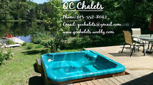 Almost full - Book now! Private waterfront cottage with hot tub!