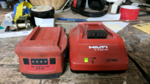 Hilti 18v lithium ion battery and charger