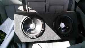 Two 12 inch Pioneer Subs with box.