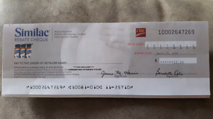 Selling Similac cheque