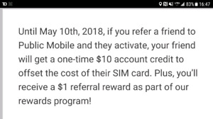 Free SIM card from Public Mobile ($10 credit)