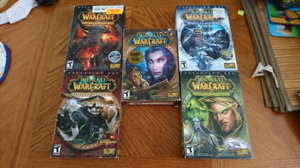 World of warcraft game and 4 expansions