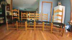 6 wooden ladder back chairs Peterborough Peterborough Area image 3