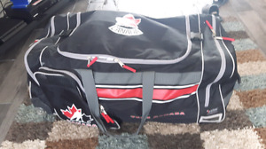 All kinds of hockey equipment