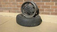 Pair of Toyota 4 Bolt 15 Inch Steel Wheel Rims