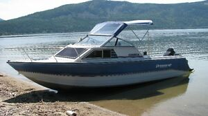 22.5  ft Princecraft Aluminum Fishing Boat w/ cuddy cabin