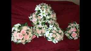 Bride arrangement, maid of honor and bridesmaids bouquets Prince George British Columbia image 1