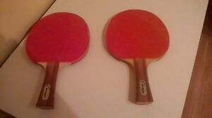 2 PING PONG RACQUETS AT A PRICE OF $10 FOR BOTH