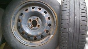 15 INCH RIMS WITH TIRES..FITS CIVIC YARIS COROLLA ETC 4x100