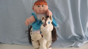 CABBAGE PATCH DOLL & HORSE