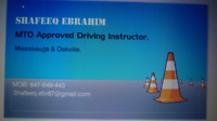 MTO Approved Driving instructor In Mississauga and oakville