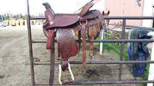 "17"" rope saddle"