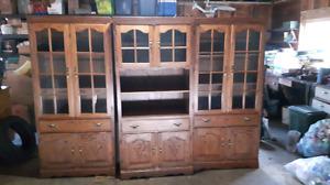 Oak 3 pc cupboards