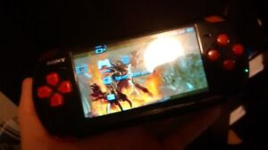 PSP slim 2000 with 8gb memory card usb cable and charger&3games