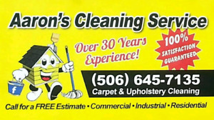 Aaron's Cleaning Service 1(506)645-7135 Carpet and Upholstery