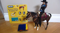 BREYER Cowgirl Rider with Horse and Tack