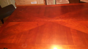 Large solid cherry table