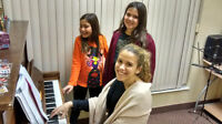 Piano, violin, guitar, drums, vocals, saxophone lessons