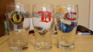 NHL 100th anniversary original six collectable glasses