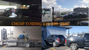 CHEAP TOWING BATTERY BOOST LOCKOUT FLAT BED TOW TRUCK MISSISAUGA
