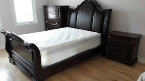 Premium Ashley bed, mattress, night stand, moving sale
