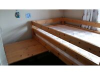 Good quality Mid sleeper bed (John Lewis)