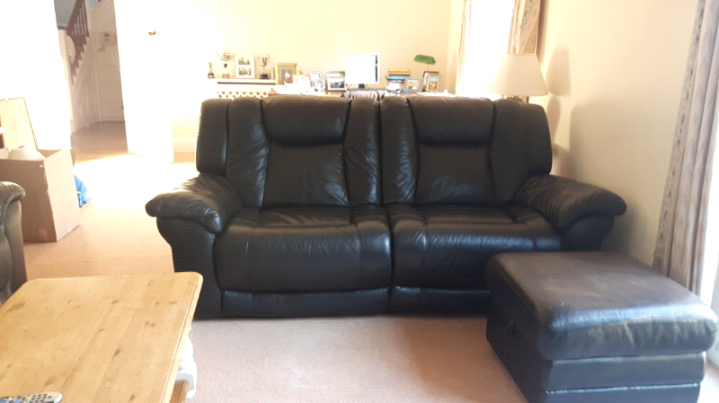 Super Quality Black Leather Sofas And Chair In Weymouth Dorset Gumtree Theyellowbook Wood Chair Design Ideas Theyellowbookinfo