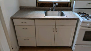 Kitchen (Countertop, sink, cabineta, faucet)