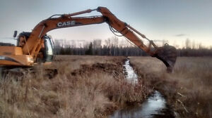 Land clearing, Fence lines, Ditching, Field cultivation
