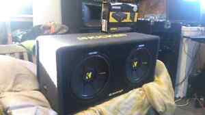 """2 12"""" Kickers Comp S With 600W Amp"""