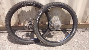 Pair of WTB Dual Duty FR Front and Rear Bike Wheels