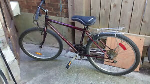 Used mountain bike with 26 inch tires, 17 inch frame