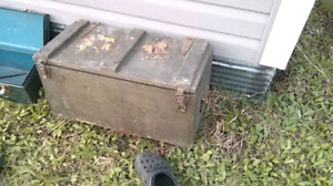 Antique wooden military box