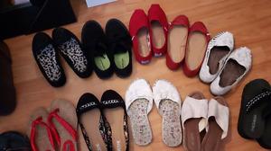 Chaussure grandeur 7   et 1 de 8 je demande 6.00 chacun